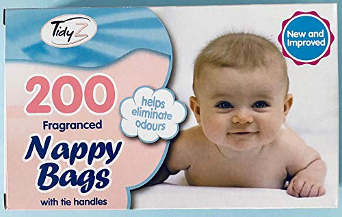 400 bolsas de pañales desechables perfumadas para bebés con asas (400 bolsas de pañales en total) 2 paquetes