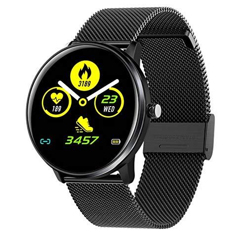 LLTG Bluetooth Smart Watch IP68 Impermeable Smartwatch Monitor De Ritmo Cardíaco Modelo Deportivo Modelo Fitness Tracker Reloj Hombres Mujeres Womenable,E