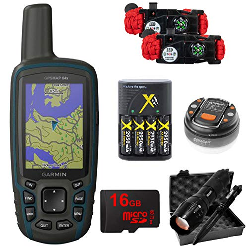 Garmin GPSMAP 64x Handheld GPS with 16GB Camping & Hiking Bundle (010-02258-00)
