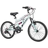 Royce Union Kids Aluminum Mountain Bike, Girls, Dual Suspension, 6-Speed 20inch, RTX, Ice Blue