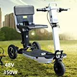 3-Wheel Electric Folding Mobile Scooter (Us Regulations 110V-220V), Speed Scooter Foldable Electric Tricycle Outdoor Travel Wheels Battery Bike Trunk Mobility Compact Wheel Speed Portable Us