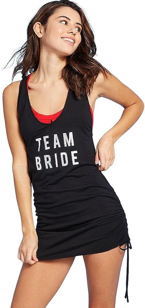 Xhilaration Junior's Team Bride Swim Coverup Dress - Black