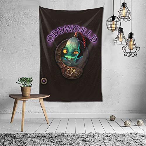 Juventud juego arte Soulstorm día uno Abe's Exoddus Mudokons Glukkons Odd-world Tapices pared arte 3d impreso para sala de estar regalos de cumpleaños