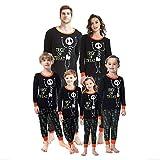 BaZhaHei Conjunto de Pijamas Halloween Pijamas con Estampado de Letras para...