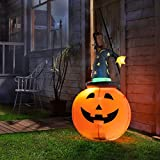 Varmax Halloween Inflatable 3.5FT Pumpkin Outdoor Decorations with Built-in LED Lights