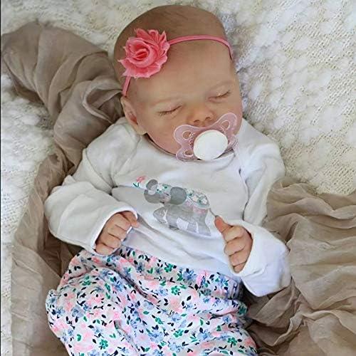 JIZHI Lifelike Reborn Baby Dolls Full Body Vinyl 17 Inch Washable Realistic Newborn Baby Dolls product image