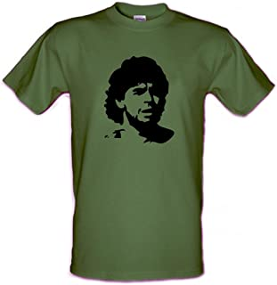 Diego Maradona Argentina Football Legend estilo Che Guevara Gildan Heavy Cotton T-Shirt Pequeño – XXL