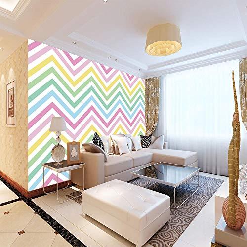 Wandbild Hintergrundbild Raumerweiterung Bibliothek Bücherregal Fototapete Tapete Wohnzimmer Sofa Hintergrund Wand Fresko Farbstreifen