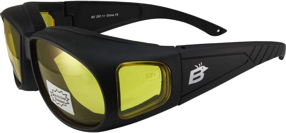 Birdz Swallow Fit Over Padded Fr Safety Motorcycle Sale item Black Glasses New item