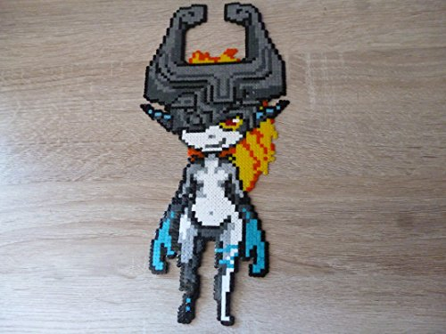 Sprite Midna / Midona de The Legend of Zelda : Twillight Princess • Hama Beads • Pixel Art