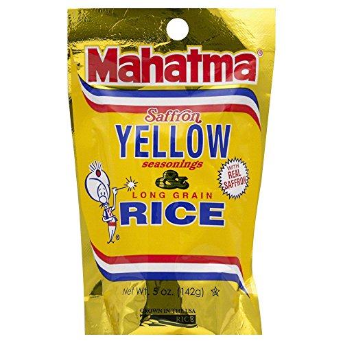 Riviana Foods Mahatma Saffron Yellow Rice, 5 Ounce (Pack of 12)