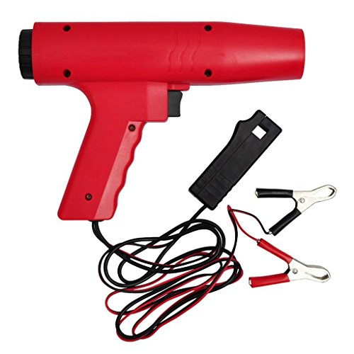 mewmewcat Zündlichtpistole Stroboskoplampe ABS-Gehäuse Blitzpistole Zündung bis 8000 RPM Rot