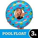 BigMouth Inc Giant Inflatable Pool Party Pool Tube - 3 Foot Inflatable Pool Float with Tropical Design, Easy to Wipe Down, Inflate/Deflate, Transport, and Store - Perfect for Pool Parties and Beach Da