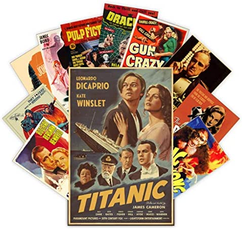 HK Studio Vintage Posters of Classic Movie Self Adhesive Vinyl Decal Indie Posters for Room product image
