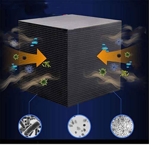 Musheng Eco-Aquarium Water Purifier Cube neues Filtermaterial Schnelle Wasserreinigung Enthält Aktivkohle-Purification Filter 10X10X5CM Ultra Strong Filtration & Absorption (Schwarz)