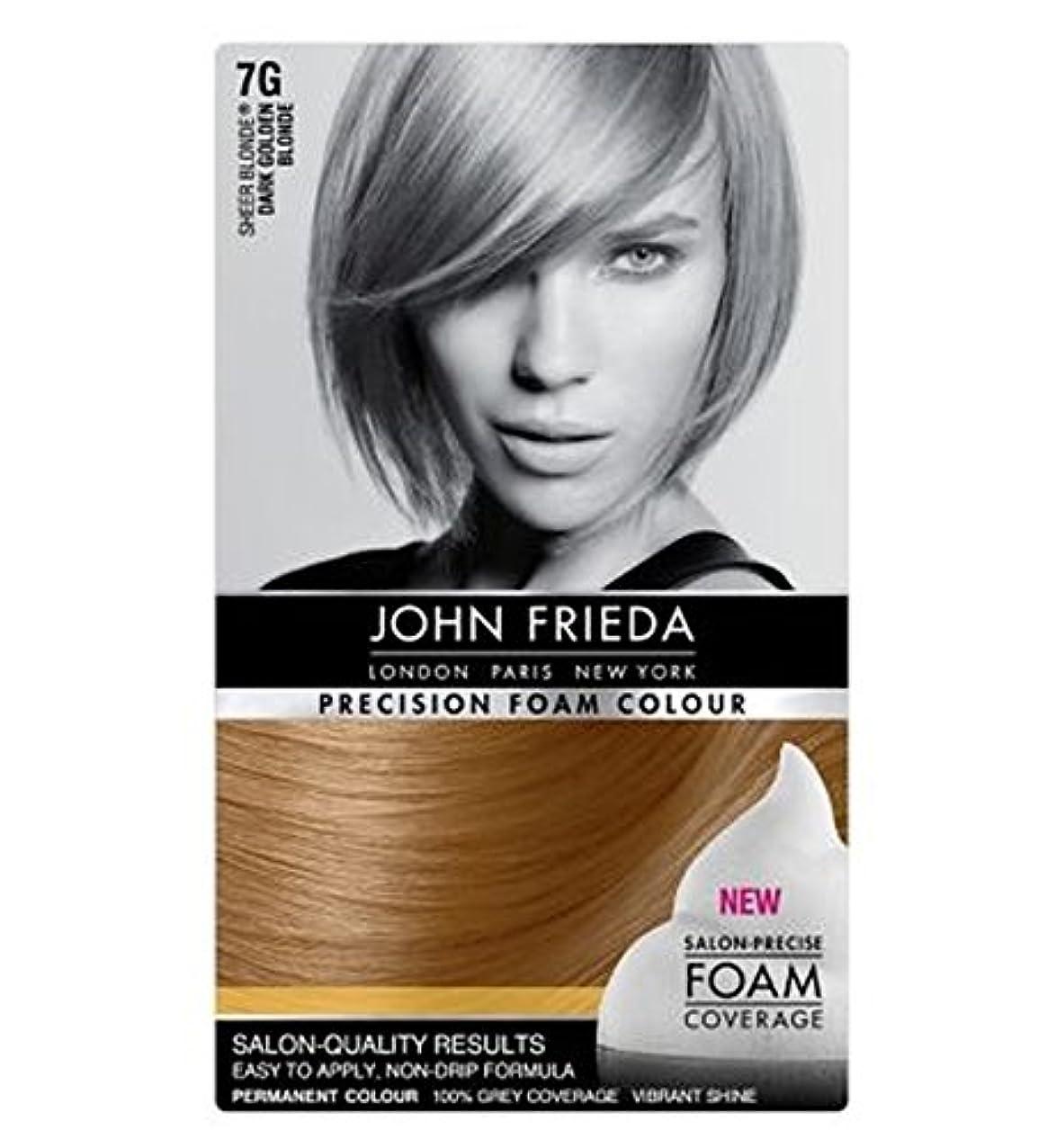 甲虫始まり小切手ジョン?フリーダ精密泡カラー7グラムダークゴールデンブロンド (John Frieda) (x2) - John Frieda Precision Foam Colour 7G Dark Golden Blonde (Pack of 2) [並行輸入品]