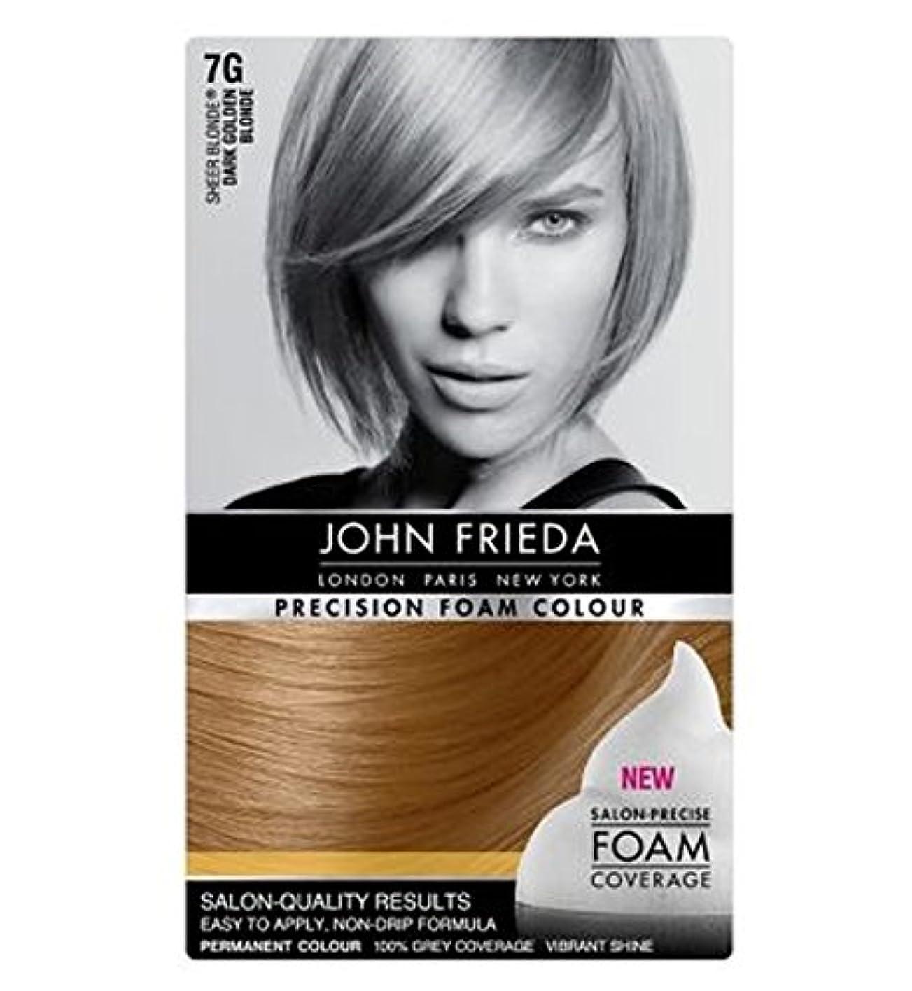 針定常付録John Frieda Precision Foam Colour 7G Dark Golden Blonde - ジョン?フリーダ精密泡カラー7グラムダークゴールデンブロンド (John Frieda) [並行輸入品]