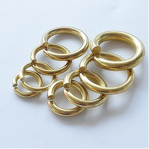 Lysee Washers - 5 10 50PCS Brass Open Jump Rin Solid Rings Japan's largest assortment Split Max 53% OFF