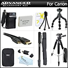 Complete Accessory Kit For Canon PowerShot S100, S110 12.1 MP Digital Camera Includes Extended (1200mAh) Replacement NB-5L Battery + Ac/Dc Travel Charger + Deluxe Case + Mini HDMI Cable + 57