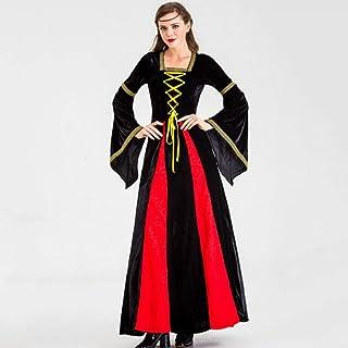 YyiHan Cosplay Disfraz, Traje del Funcionamiento de la Etapa del Traje Medieval Palacio renacentista de Bola del Vestido de la Reina Cosplay del Partido del Maquillaje de Hallowee