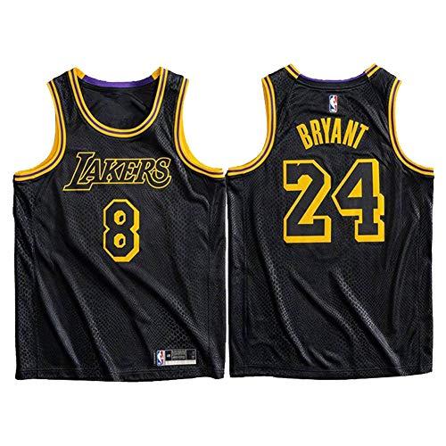 Kobe Herren Basketball Trikot, Lakers # 8 Schwarz Mamba Special Edition Swingman Unisex Basketball Trikot Tank Top Shirt Weste (S-XXL) Jerseys-L