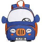 CQ Maternelle Sac à Dos pour Enfants Voyager Dessin Animé 3D Camion Mignon Sac à Dos D'école pour Enfants avec Ceinture,02