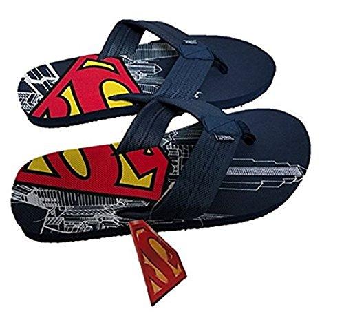 Superman Men s Comic Flip Flop Sandal Navy