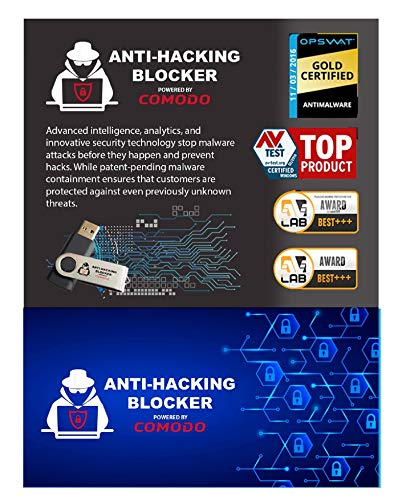 Anti-Hacking Blocker Software By COMODO - Premium Internet Security Anti Virus Software and Firewall Protection - Protects Up to 3 PC's - 1 Year PrePaid Subscription