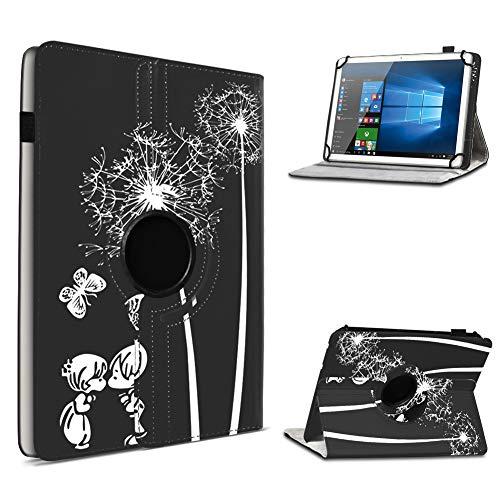 UC-Express Tablet Hülle kompatibel für Odys Space One 10 Tasche Schutzhülle Hülle Schutz Cover 360 Drehbar 10.1 Zoll, Farbe:Motiv 12