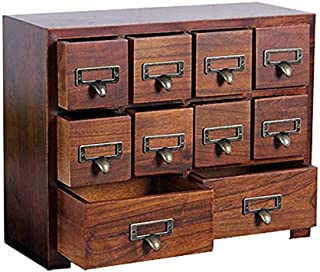 Primo Supply Traditional Solid Wood Small Chinese Medicine Cabinet l Vintage and Retro Look with Great Storage Apothecary Drawer Herbal Dresser l Great for Modern Gear | Wide - NO Assembly Required