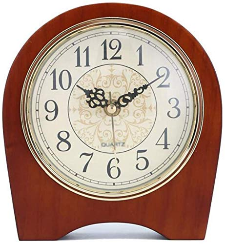 Gaojian Reloj de repisa Reloj de Manto de Madera, Reloj de Escritorio de Madera Maciza Reloj de Cuarzo de Estudio Silencioso Reloj Retro para repisa de Chimenea, Oficina, Escritorio