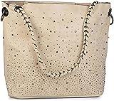 styleBREAKER Set borsette con Applique di Strass e Design Volta stellata, 2 borse 02012013,...