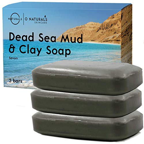 O Naturals Psoriasis Dead Sea Mud & Clay Natural Bar Soap Face Body Cleanser Helps Acne Eczema...