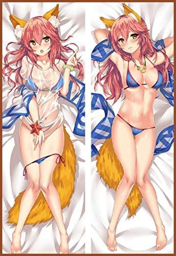 GB Arts Fate Grand Order Tamamo No Mae Summer Bikini Peach Skin 150cm x 50cm Body Pillowcase