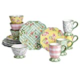 Certified International English Garden 16 Piece Dinnerware Set, Service for 4, Multicolored