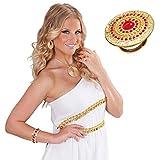 Amakando Anillo de oro de Egipto con diosa griega para mujer