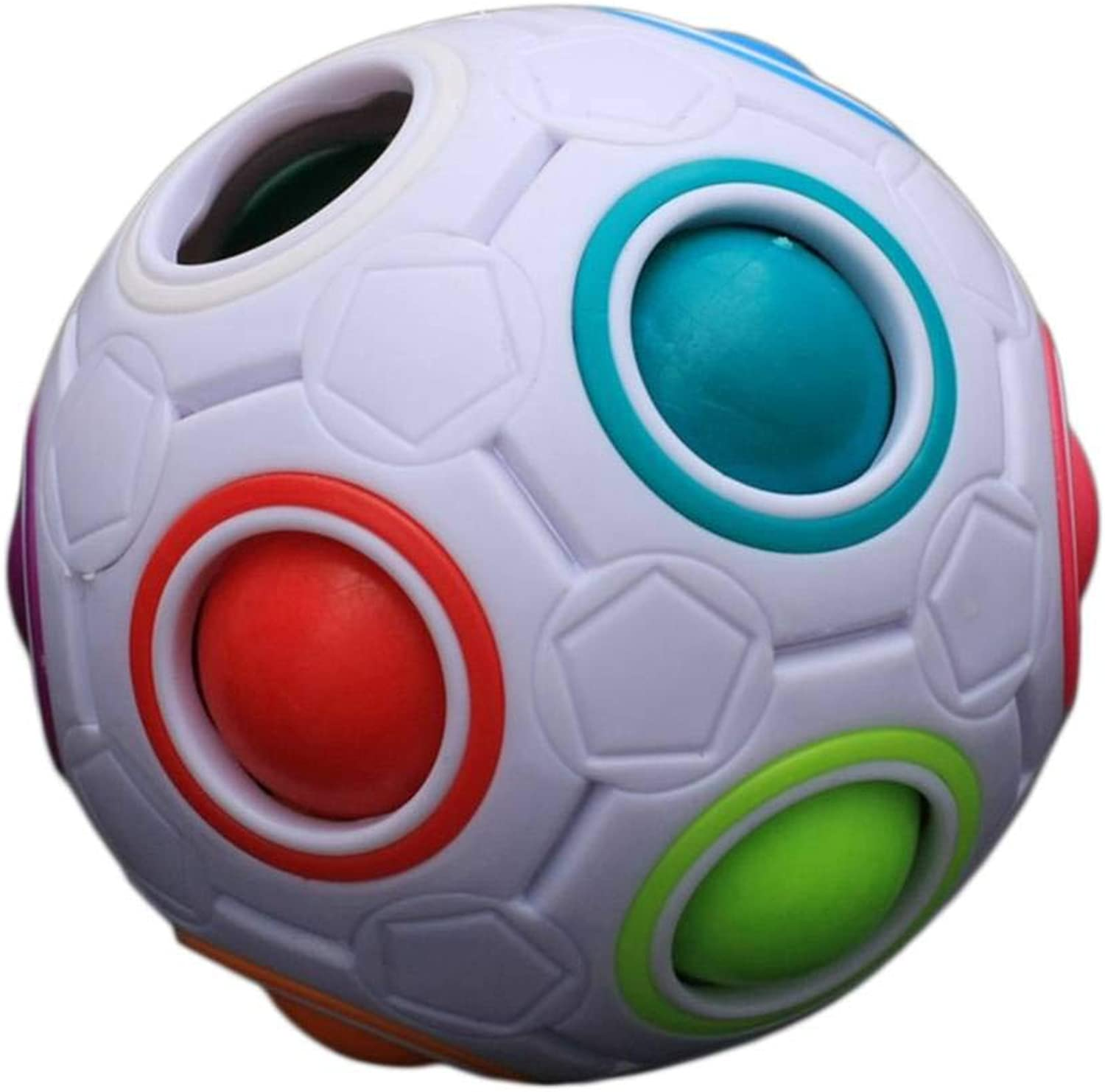 Unique Kid Spherical Rainbow Ball Football Magic Toy colorful Block Toy