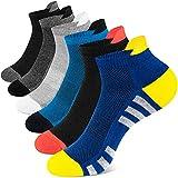 Newdora Chaussettes Hommes Coton, 6 Paires Chaussettes Homme Sport Socquettes Respirant Courtes , Confortable Fantaisie Multicolor chaussettes Basses pour Travail Voyages,chaussettes de sport homme