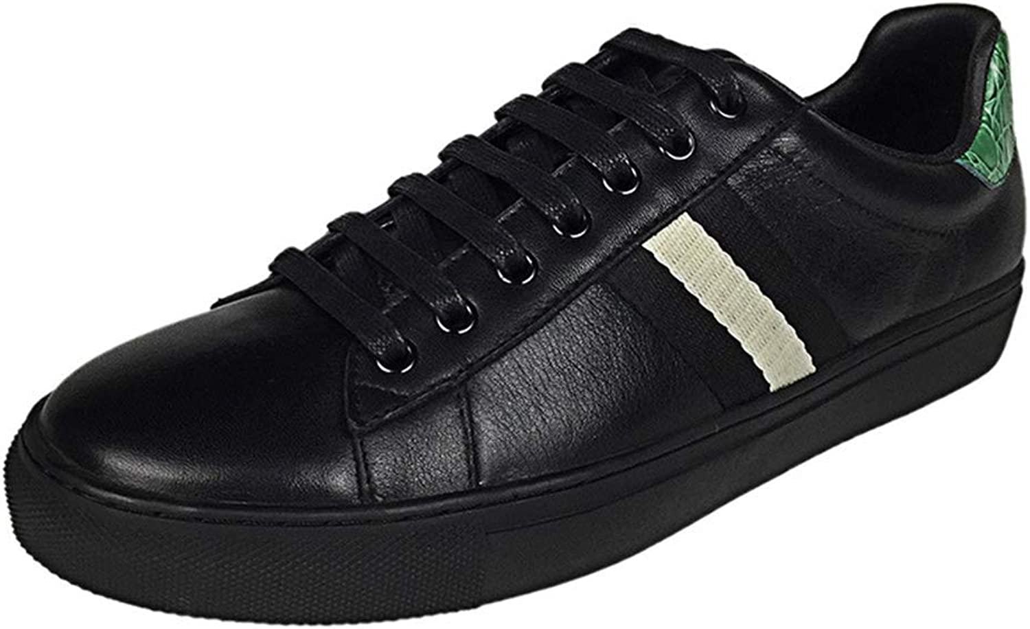 Men's shoes Flat Loafers Lace-up Slip-Ons Running shoes Casual Sneakers Cycling shoes Loafers,Black,41