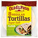 Old El Paso Regular Super Soft Flour Tortillas x8 326g