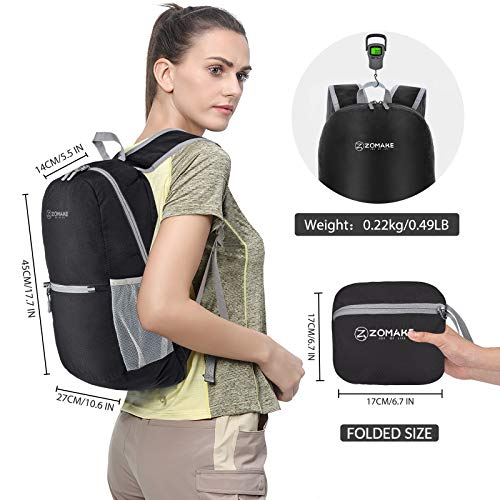 ZOMAKE Ultra Lightweight Hiking Backpack - Water Resistant Small Backpack Packable Daypack for Women Men