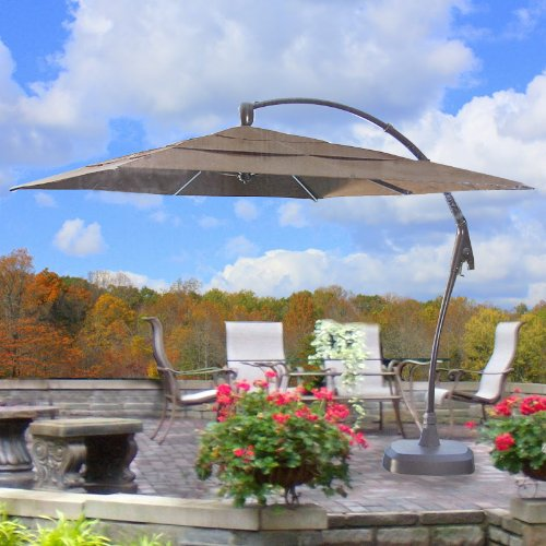 Garden Winds Square Cantilever Umbrella Replacement Canopy Top Cover