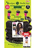 "Janet Wig Brazilian Bundle Hair Bundle Body 3pcs | Bundle body 3pcs + 13""X4"" Temple Lace 