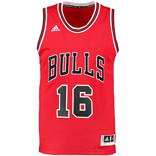 adidas Trikot Int Swingman 16 Bulls, Camiseta para Hombre, Multicolor (Rojo/Negro), XS