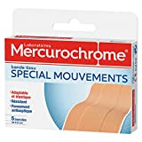 MERCUROCHROME - Bande Tissu Spécial Mouvement 10x6cm - Elastique, Résistante,...
