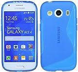 ENERGMiX S-Line TPU SchutzHülle kompatibel mit Samsung Galaxy Ace 4 G357FZ Silikon Hülle in Blau