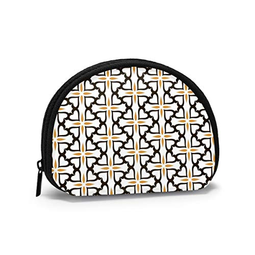 Ornament Decoration Seamless Pattern Coin Purse Pouch Change Holder, Zippered Wallet Mini Cosmetic Makeup Bags for Women and Girls