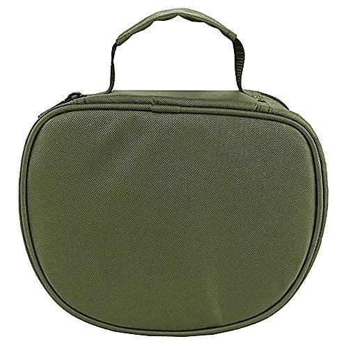 釣りホイール収納バッグ - ミリタリーグリーン、折りやすく、清潔で丈夫な、オーク、カエデ、ウッドブロックの積み重ねに適しています。