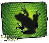 MySleeveDesign Laptoptasche Notebooktasche Sleeve für 10,2 Zoll / 11,6-12,1 Zoll / 13,3 Zoll / 14 Zoll / 15,6 Zoll / 17,3 Zoll - Neopren Schutzhülle mit VERSCH. Designs - Frog [13]