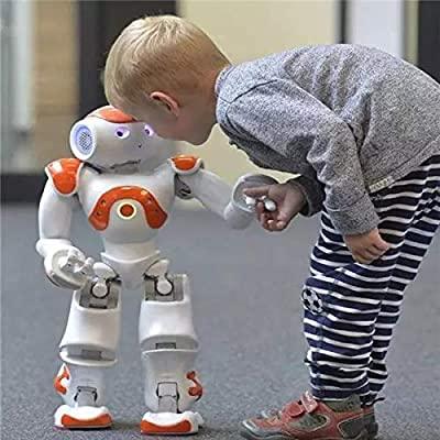 Awolf High-tech Artificial Intelligence Robot, Smart Robots for Kids, Gesture Sensing Robot, Remote Control Interactive Robots Dancing Walking, Christmas & Birthday Gift for Boys & Girls (red)